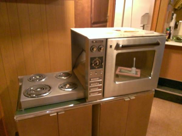 Hotpoint Countertop Microwave : 1960 countertop-height Hotpoint oven with hideaway fold-down electric ...