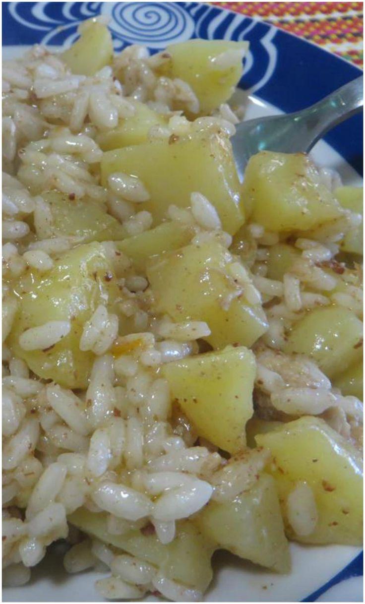 Risotto con patate e tonno, la semplice ricetta per prepararlo! #risotto #patate #tonno #ricettegustose