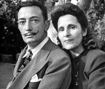 Dali y su mujer Gala