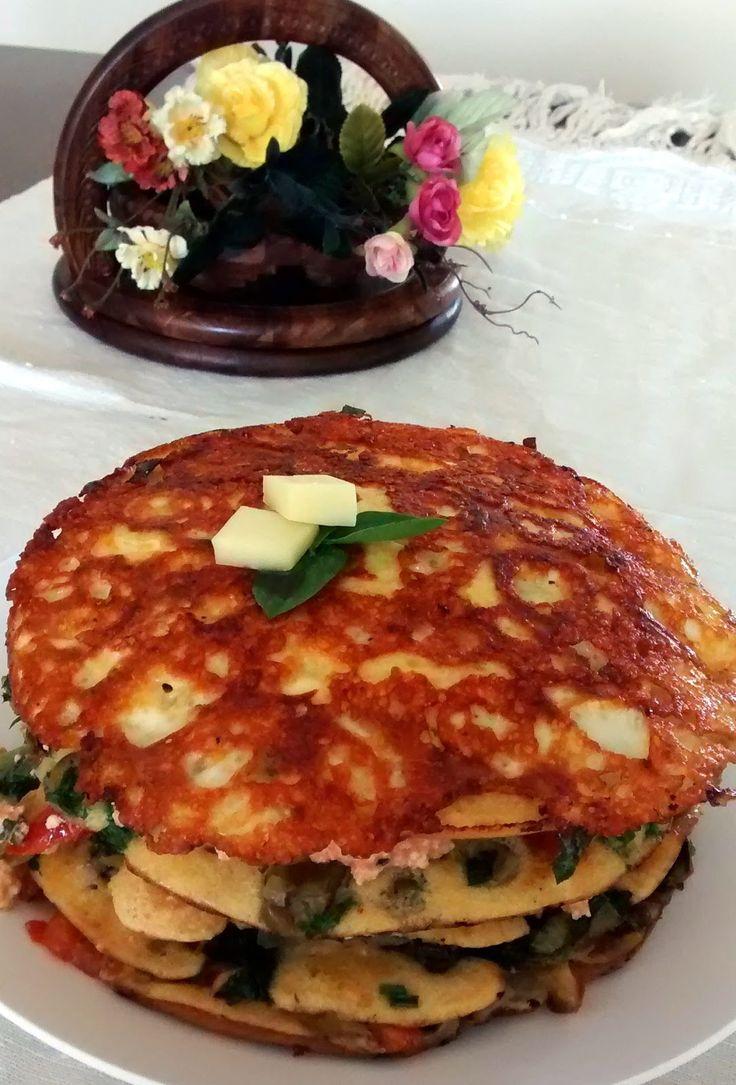 Mundo Vegetariano da Rosana: Torre de Omelete