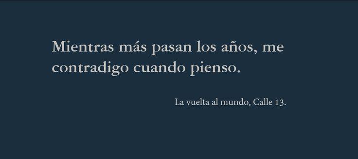 La vuelta al mundo, Calle 13.