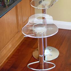 Portola RST Living Acrylic Barstools (Set of 2): Rst Living, Swivel Bar Stools, Living Acrylics, Acrylics Barstool, Portola Rst, Branding Bar, Portola Acrylics, Kitchens Bar, Barstool Sets