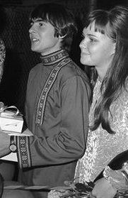 Davy Jones (The Monkees) with girlfriend Sally Field