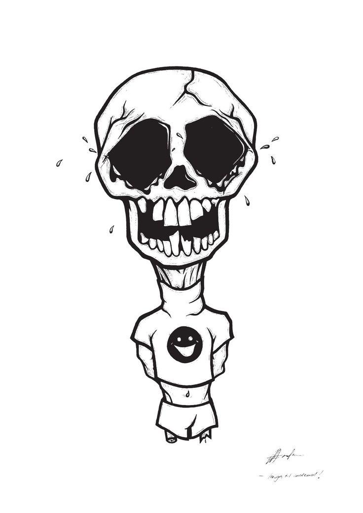 'Laugh til I'm Dead' Illustration By Rachel J. Enoka