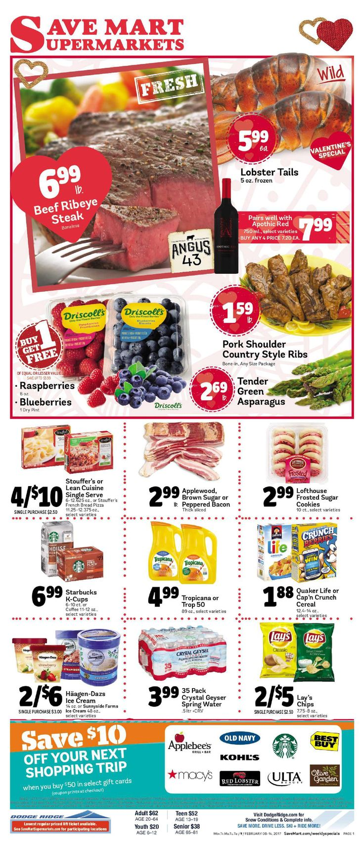 Save Mart Weekly ad February 8 - 14, 2017 - http://www.olcatalog.com/save-mart/save-mart-weekly-ad.html