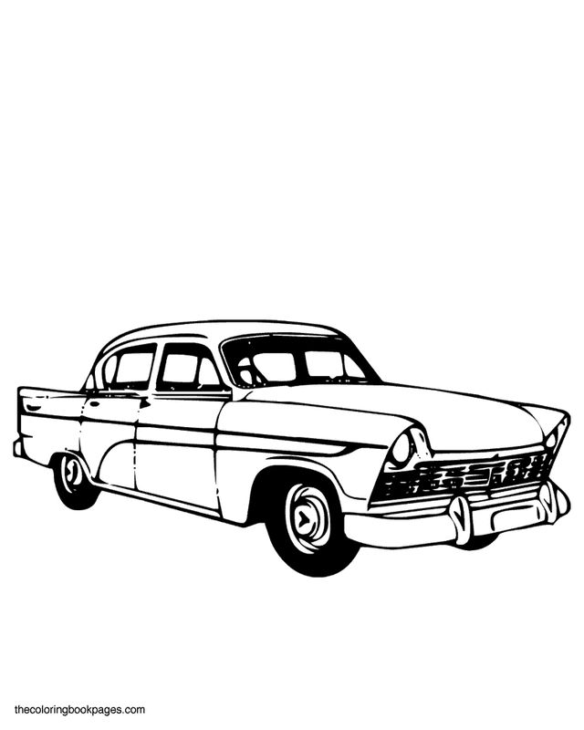 1950s Coloring Books 1950s Car