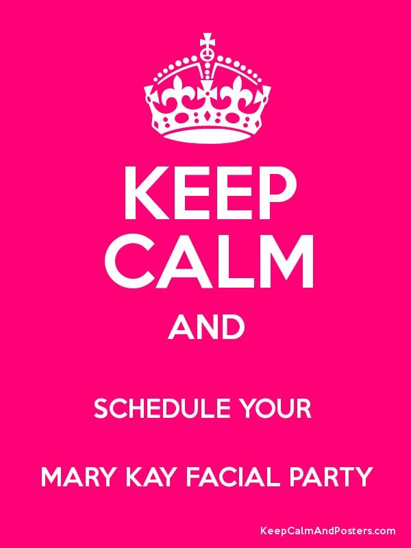 Seriously!!!! I'd love to do a MaryKay party with you and your friends!!!