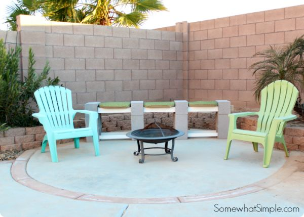 how to make a cinder block bench 1