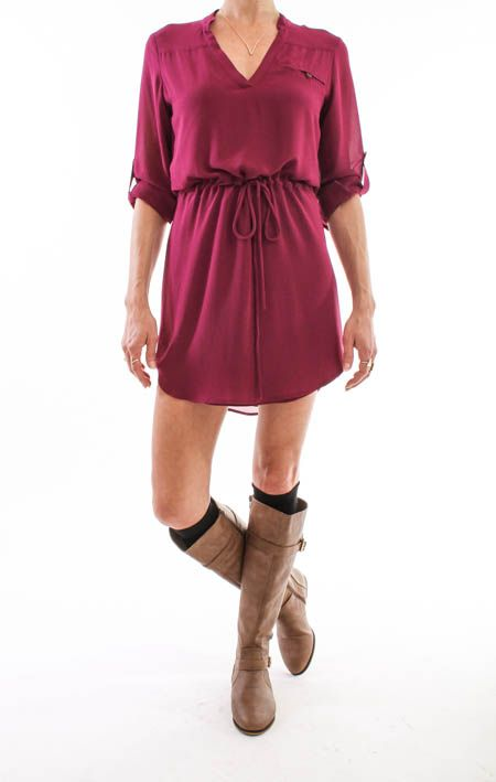 Own the day in this Garnet Drawstring Shirt Dress from Henri Girl! Perfect for an FSU game day! Shop Henrigirl.com Today! #henrigirl