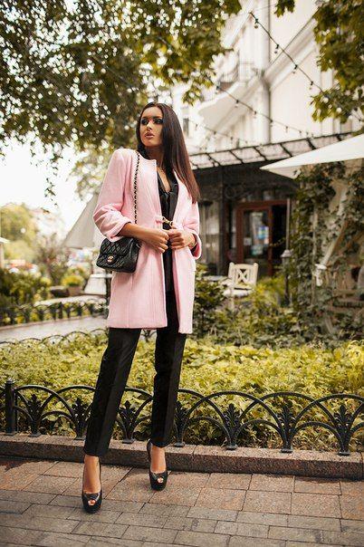Пальто тренч Soho розовое