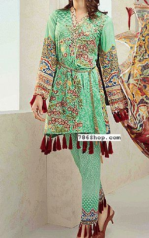 3af992b518 Mint Green Lawn Suit | Buy Jahanara Pakistani Dresses and Clothing online  in USA, UK