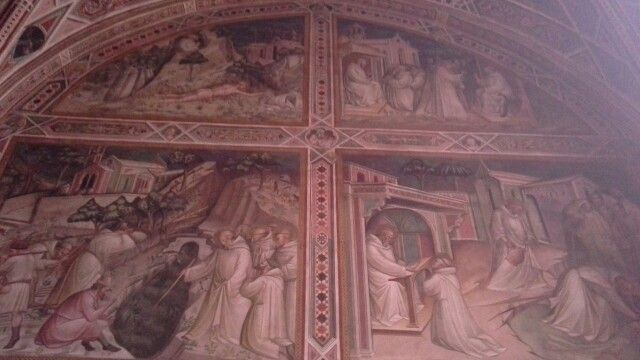 The sacristy with frescos by Spinello Aretino
