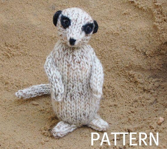 Meerkat Knitting Pattern, PDF, Instant Digital Download