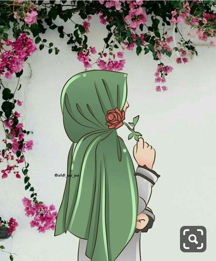 Pin Ot Polzovatelya Amtulwahab Na Doske I Hijab Risunki Risunki Devushki Islamskoe Iskusstvo