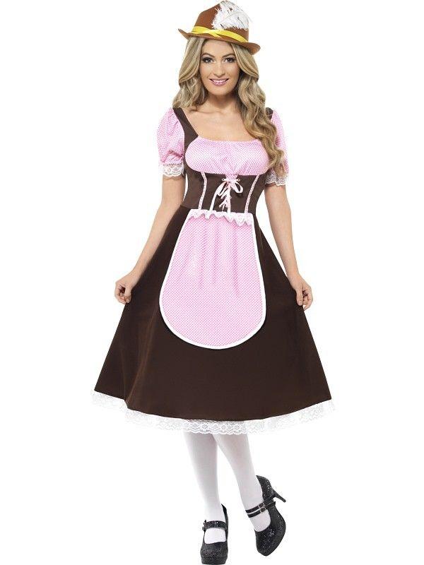 Tyrolerkjole Tavern girl - Oktoberfest kostyme for voksne