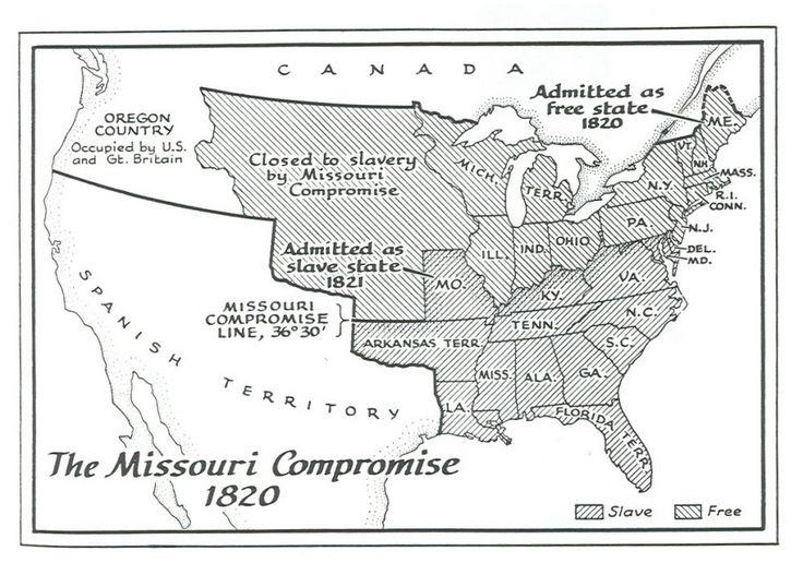 Best Missouri Compromise Ideas On Pinterest History - Blank us map 1820
