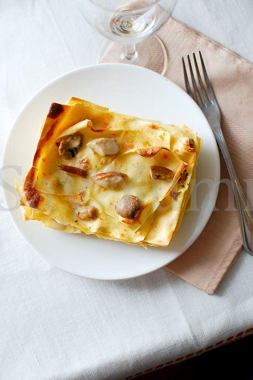White Lasagne with mushrooms