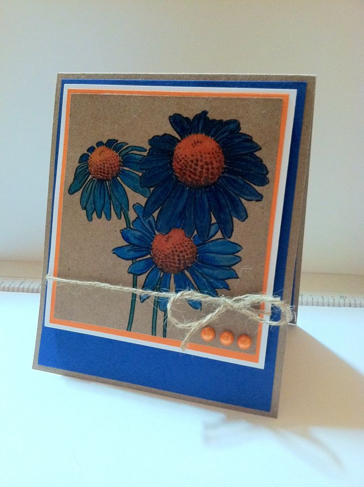 Stampendous Daisy Thank You Card My Handmade Cards Pinterest