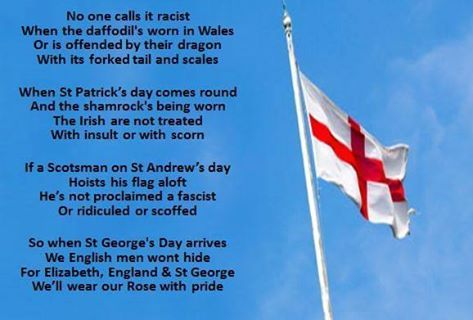St Georges Day next week.. Proud to be British