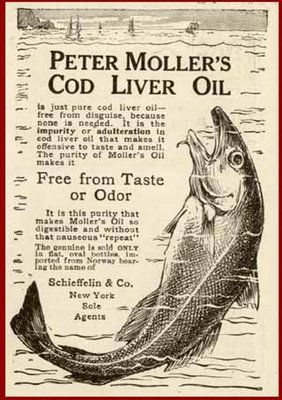 Cod liver oil, rich in vitamin D, was once commonly given to children to prevent rickets. It also helps with arthritis and osteomalacia, the adult version of rickets.