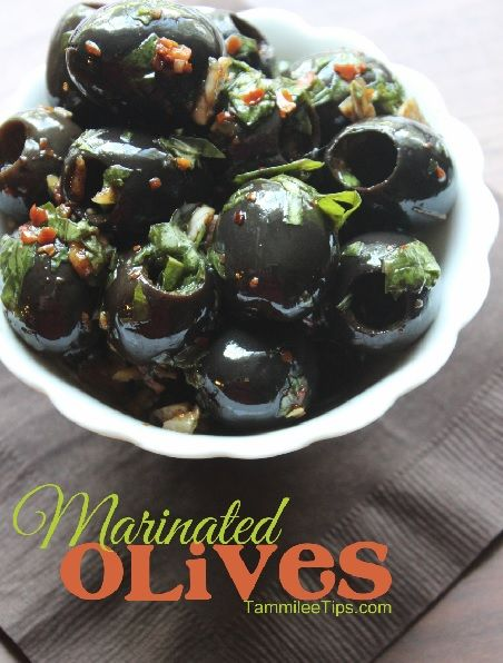 Super Easy Marinated Olives! Prep these olives a few days before your event and you have an easy appetizer ready to go.