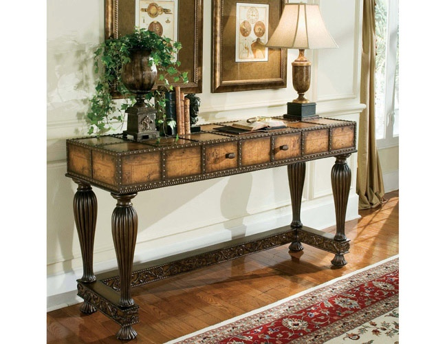 $1159 Console Table With Old World Map Pattern
