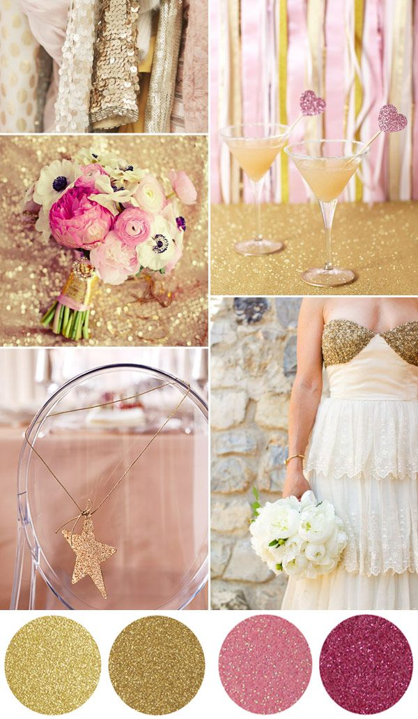 glitter wedding board - gold and pink sparkling ideas for a #weddingGold Glitter, Glitter Wedding, Wedding Ideas, Pink Heart, Inspiration Boards, Colors Schemes, Wedding Reception, Colours Palettes, Wedding Boards