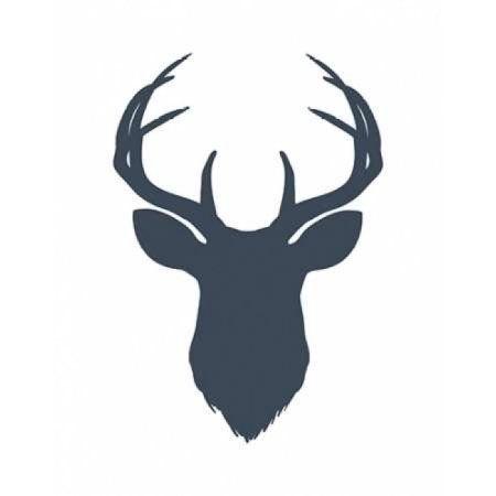 Navy Blue Deer Head Canvas Art - Tara Moss (22 x 28)