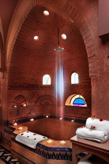 Oriental bath, vaults, hammam style in our bathrooms - hotel Les Deux Tours Marrakech Palmeraie