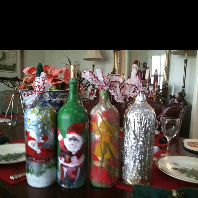 Decoration Ideas With Glass Bottles 44 Best Christmas Bottle Decorations And Ideas Images On Pinterest