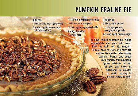 MMMM - Pumpkin Praline Pic Recipe Postcards for Realtors. Send out ...
