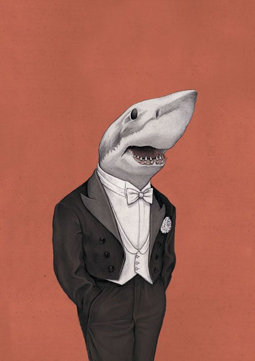 A Shark with a suite on? Can't get any better