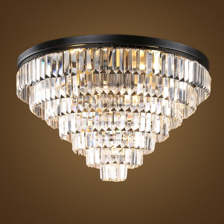 Good Crystal Combination Round Ceiling Lamp For Living Room Bedroom Hotel Simple  Ceiling Light D50CM 60CM D70CM Nice Look