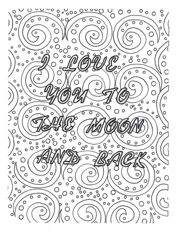 I love you to the moon and back coloring page | Products | Color ...