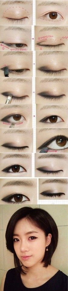 Korean eye makeup #eyemakeup