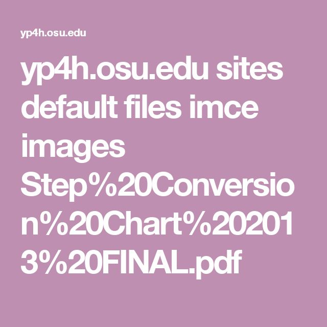 yp4h.osu.edu sites default files imce images Step%20Conversion%20Chart%202013%20FINAL.pdf