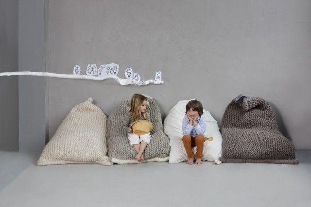 NEST beanbag grå - Tekstiler - Kategori