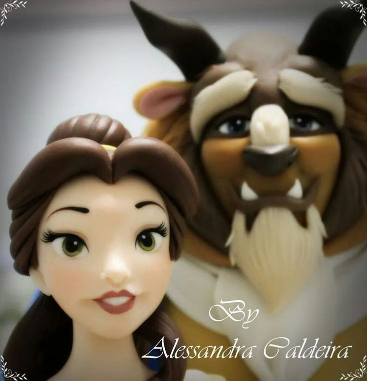 Beauty and the Beast - Disney - Porcelana Fria - Biscuit