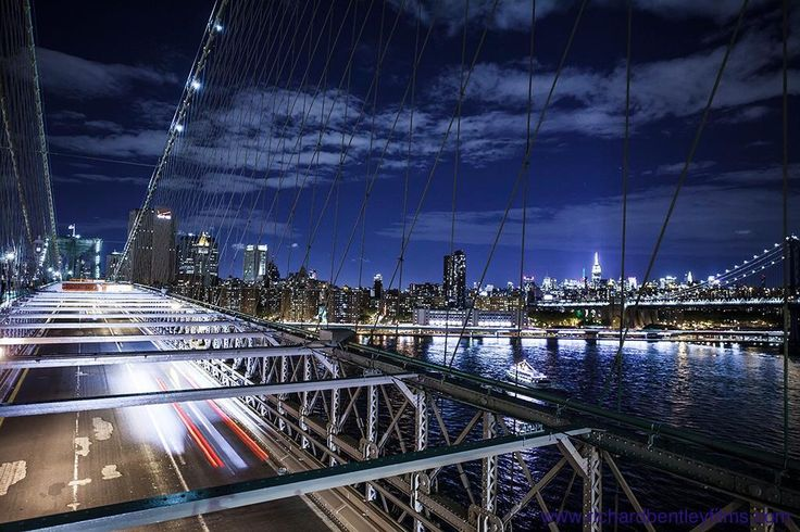 Brooklyn bridge on a cold and windy night shooting timelapse. Love the outcome though :)