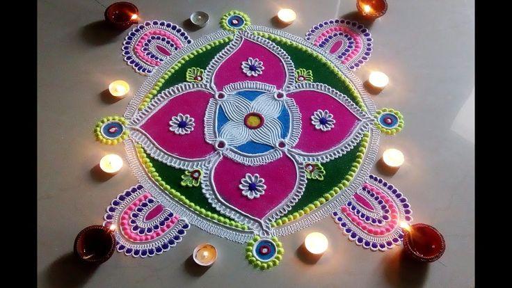 Beautiful and Unique Rangoli Design for Diwali.