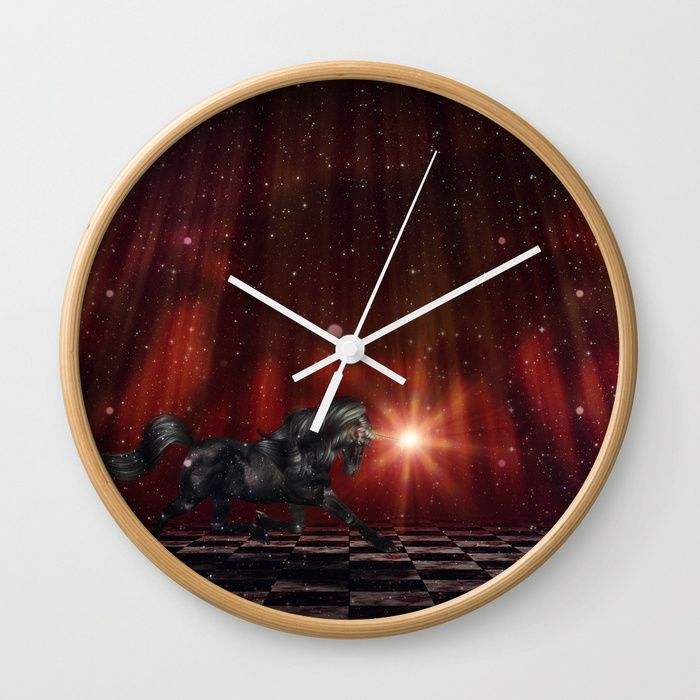 Buy Black Unicorn on the Stage Wall Clock by annartshock. Worldwide shipping available at Society6.com. Just one of millions of high quality products available.