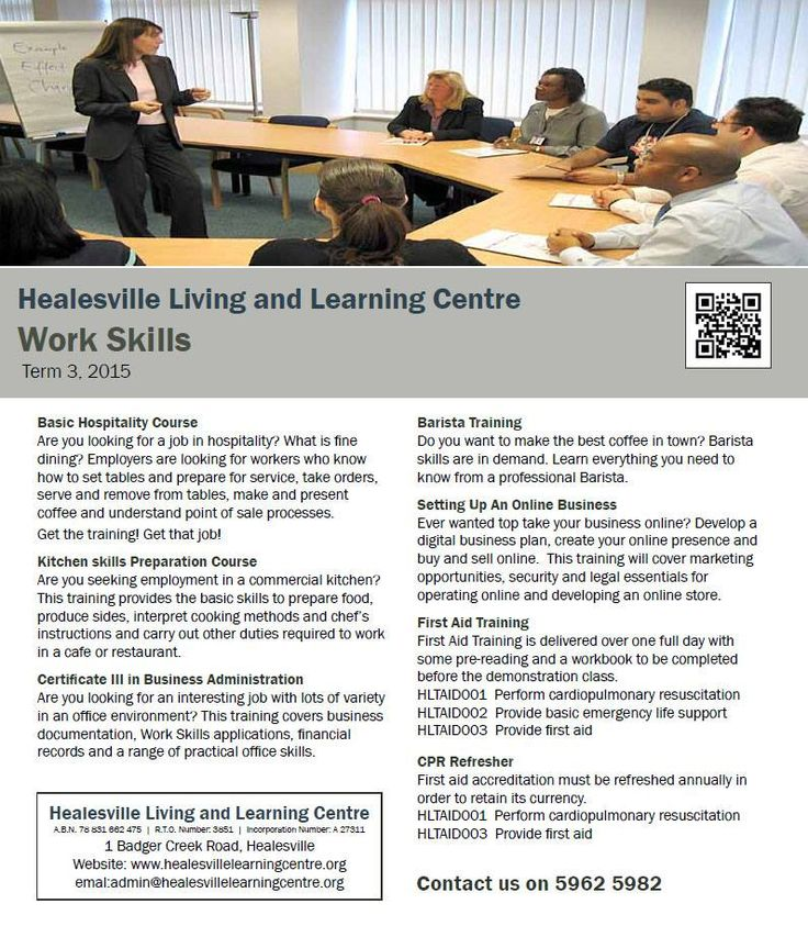 Work Skills at Healesville Living and Learning Centre - Term 3, 2105 http://www.healesvillelearningcentre.org