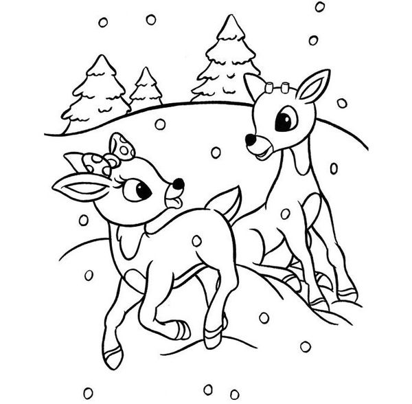 50+ Reindeer Shape Templates, Crafts & Colouring Pages