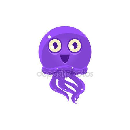 Happy Funny Octopus Emoji. Cute Vector Emoticon In Cartoon Childish Style Isolated On White Background. — 图库插图 #126748402