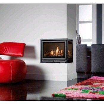 De #Wanders Square 60G Hoek is een mooie inbouw #gashaard. #Gaskachel #Interieur #Fireplace #Fireplaces #Kampen