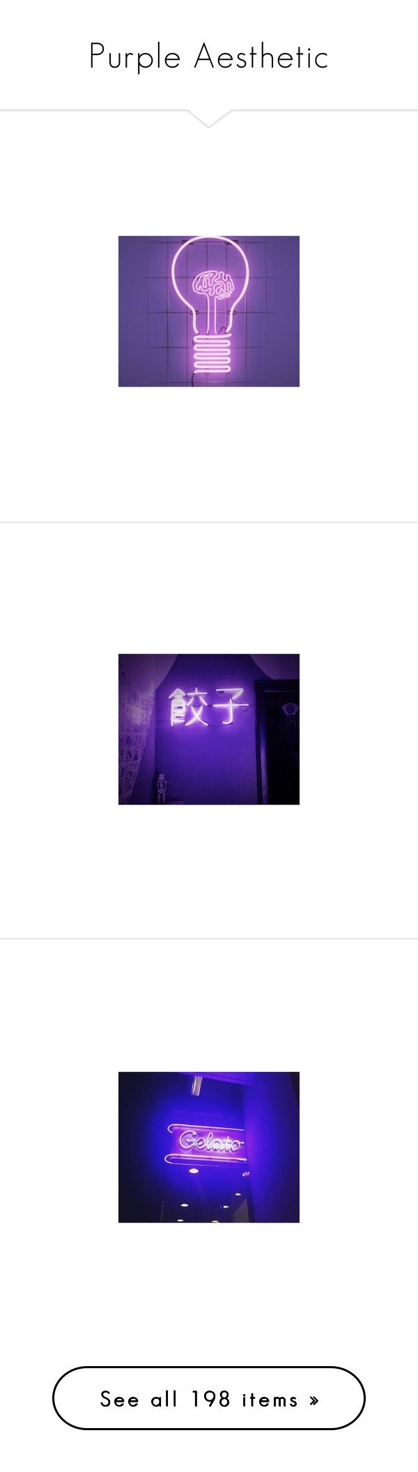 """""""Purple Aesthetic"""" by i-am-the-random-queen ❤ liked on Polyvore featuring home, home decor, office accessories, heart sign, neon signs, handmade signs, pictures, backgrounds, photos and quotes"""