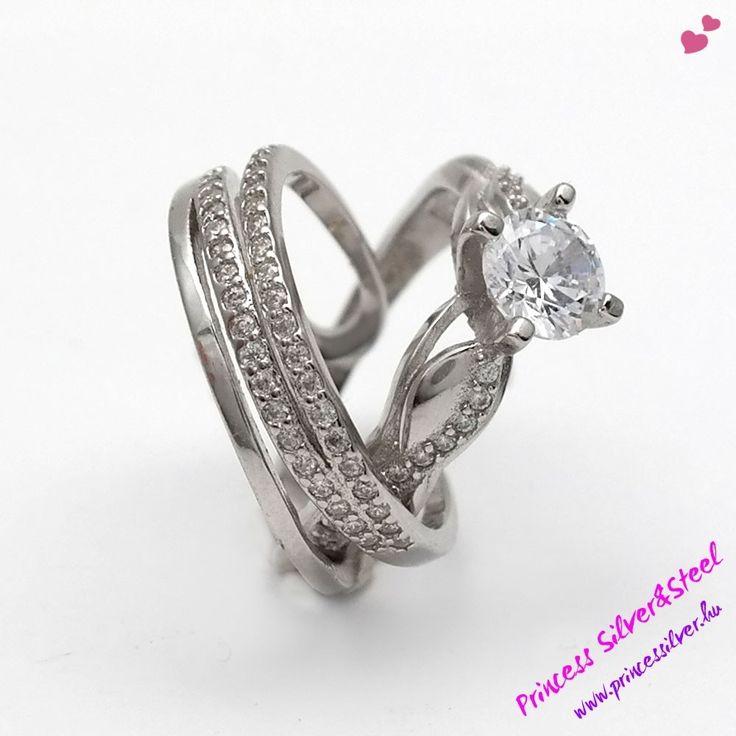 Ezüst gyűrűk, cirkónia kristályokkal