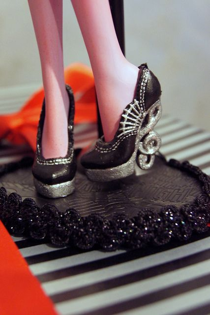 Monster High ooak Operetta shoes by Deliciously forbidden, via Flickr