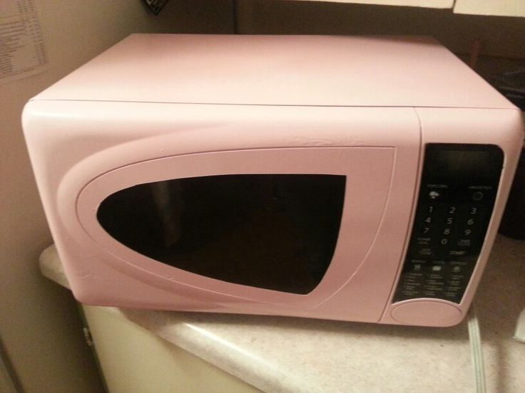 I Spray Painted My Microwave Pink Appliance Makeover