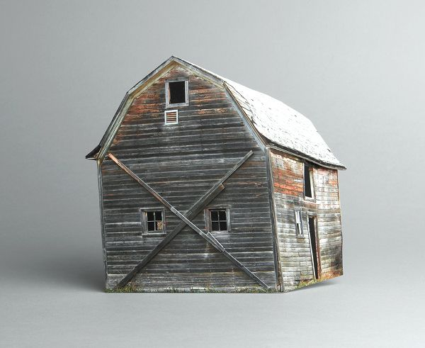 Miniature Paper Sculptures of Abandoned Houses by Ofra Lapid (via Flavorwire)